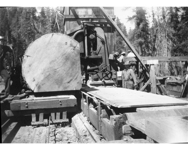 Sawmill photos pine logging company at dinkey creek for Mill log